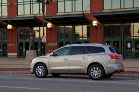 Buick has produced two vehicles able to hold up to 8 passengers. The 1991-1996 Roadmaster Estate and the 2013 Enclave shown here.