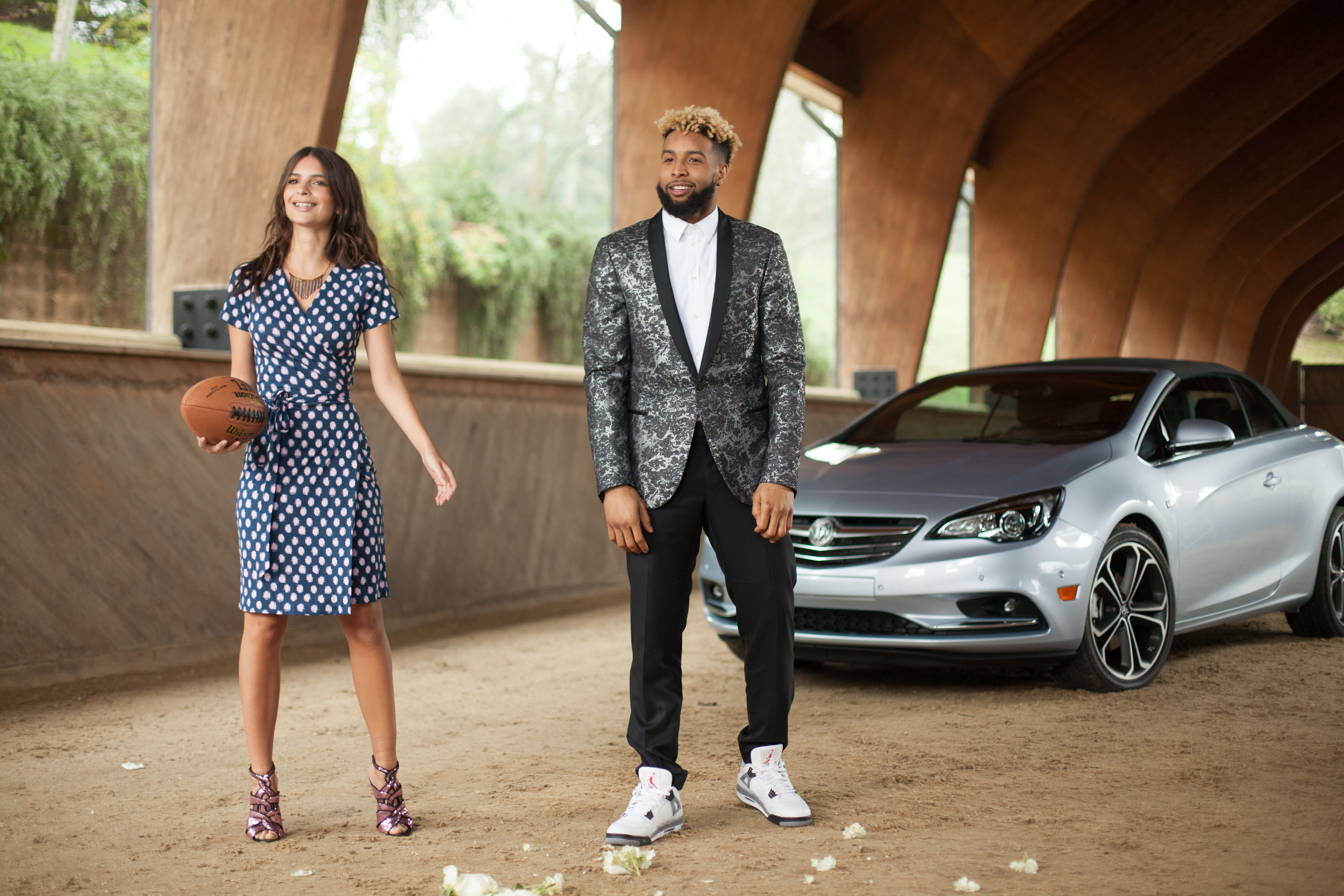 First ever buick super bowl ad features odell beckham jr and emily ratajkowski